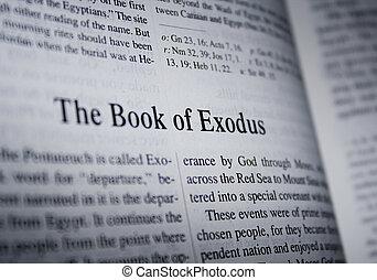 bíblia, -, a, livro, êxodo