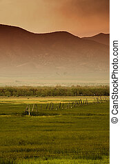 Rural Scene in Utah with Mountains as the Background