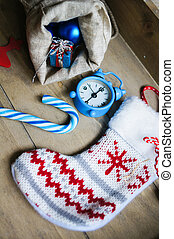Christmas time decorations - Chulk board with holiday time...