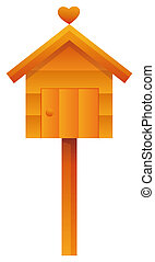 house sign - house with heart,you can used as postbox or...