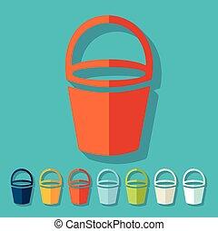 Flat design: bucket