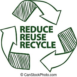 Recycle - Illustration of recycling sign