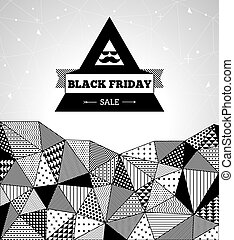 Black Friday Sale - Triangle pattern background, triangle...