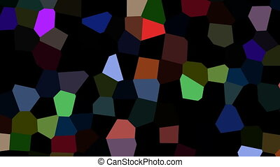 Rotating multicolored shards - On a black background rotate...