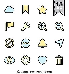Interface icons set.Illustration eps 10