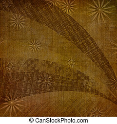 Abstract ancient background in scrapbooking style with ornamenta