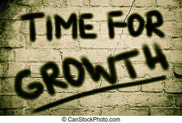 temps, pour, croissance, concept