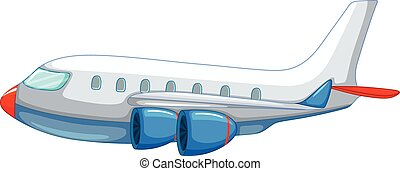 Aeroplane - Illustration of a close up aeroplane