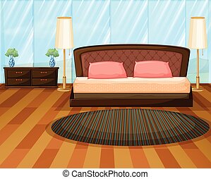 Bedroom - Illustration of an elegence bedroom