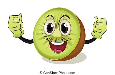 Kiwi - Illustration of a kiwi fruit with arms