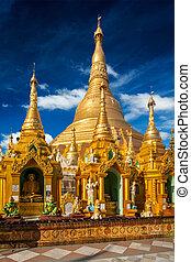 Shwedagon pagoda - Myanmer famous sacred place and tourist...