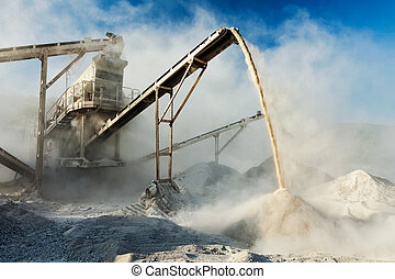 Industrial crusher - rock stone crushing machine -...