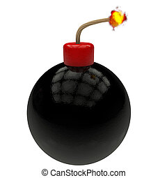 wick pump - pump on black and red ball wick rendered in 3d