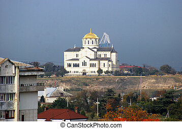 type on orthodox temple Sevastopol