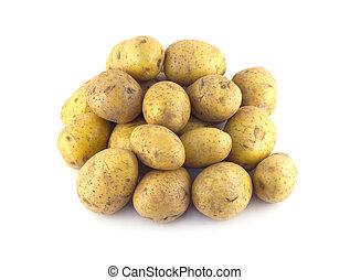 土豆, 堆, 被隔离, 成熟