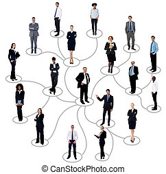 Social networking between business people - Businessman with...