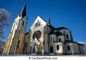Church in Levo?i the Slovakia pilgrimage place