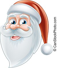 Cartoon Happy Santa - An illustration of a Christmas cartoon...