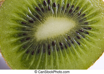 Close up kiwi isolated