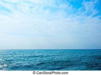 sea - beautiful sea and blue cloud sky