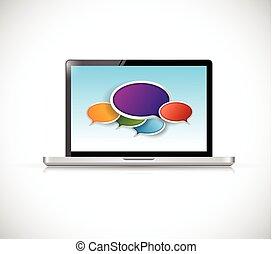 computer message bubbles communication
