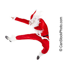 Santa Claus jumping - Happy Christmas Santa Claus jumping...