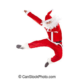 santa, Claus, Saltar