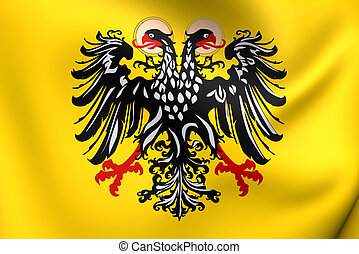 Flag of Holy Roman Empire (1400-1806). Close Up.