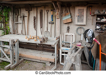 Handyman workshop - Gadgeteer workbench and home tool shed...