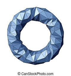 Torus - Low polygonal torus isolated on white