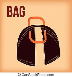 bowling - an isolated colored bag on a colored background...