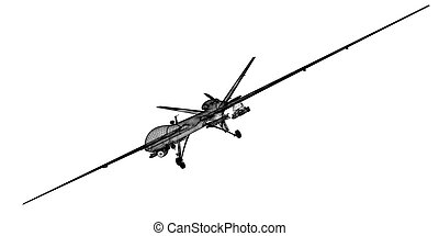 Unmanned Aerial Vehicle (UAV) , body structure, wire model