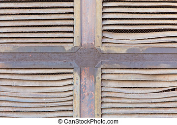 ventilation grille - Old ventilation grille with traces of...