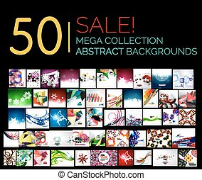 Large mega set of abstract backgrounds, sale. Abstract...
