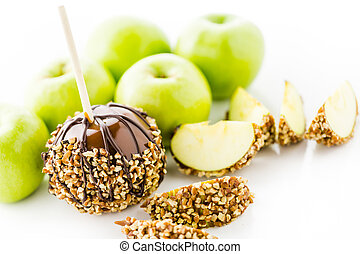 Caramel apples - Hand dipped caramel apples decorated for...