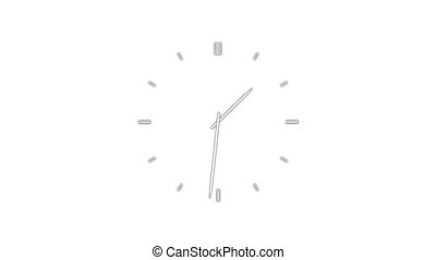 ClockQ-29 - Motion background with spinning clock in 12 hour...