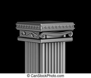 Antique podium for exhibit