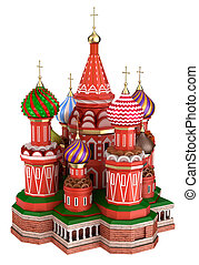 Cathedral on the Red Square in Moscow, Russia, isolated
