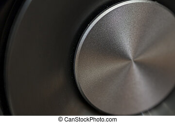 Macro of a quality speker hi-fi - hi-fi music audio speaker...