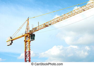 construction crane - The construction crane on day with sky