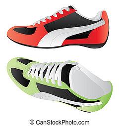desporto, sapatos