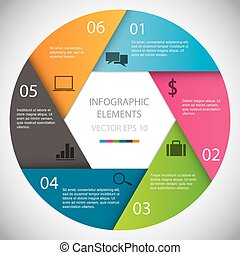 Circle Infographic Files included: - EPS10 vector - AI CS...