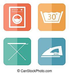 Laundry Room Icons - Laundry Room Symbols and Icons