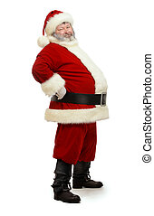 santa standing - Santa Claus standing isolated on white...