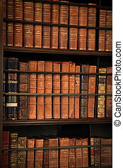 Library with many old books