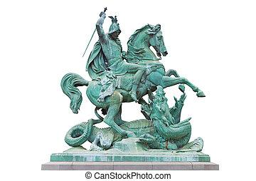 St. George kills the Dragon - St. George killing the Dragon,...