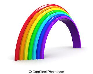 3d Rainbow arch - 3d render of a rainbow