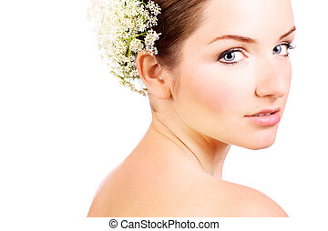Close up of a beautiful bride - A close up of a beautiful...