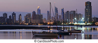 Surfers Paradise Skyline -Queensland Australia - Panoramic...