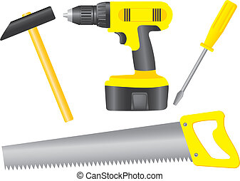 Tools - Set of tools - fully editable vector image